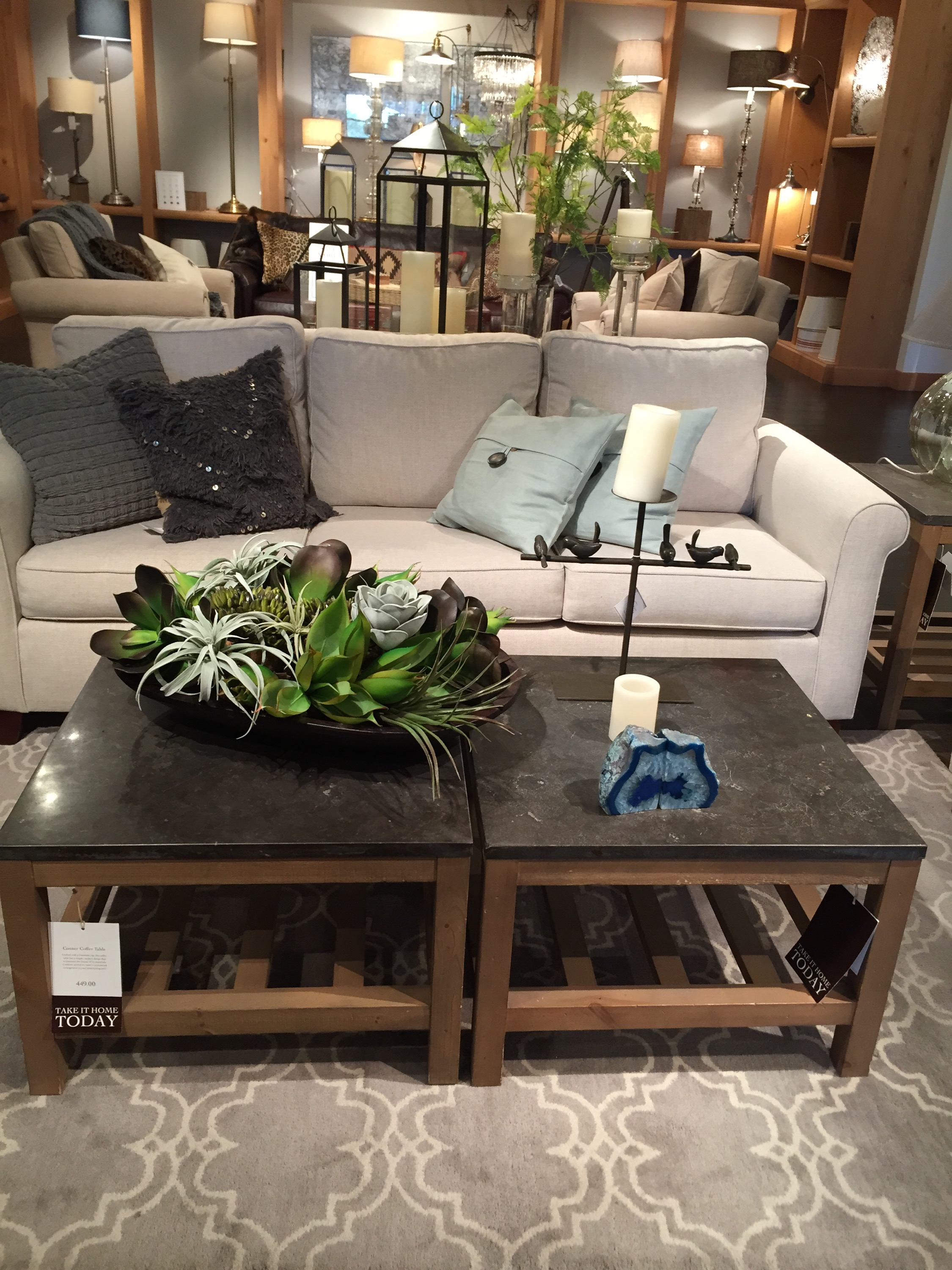 Pottery Barn Living Spaces